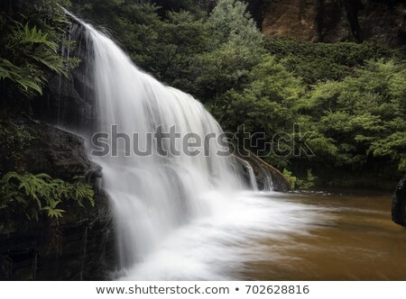 Full flowing cascades in Wentworth Falls Stock photo © lovleah