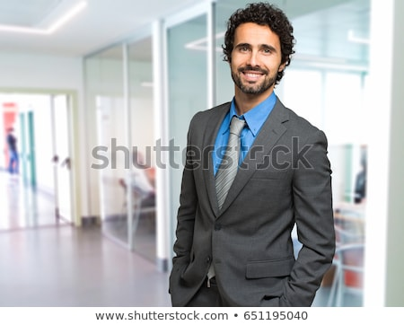 Closeup portrait of handsome businessman Stock photo © nyul