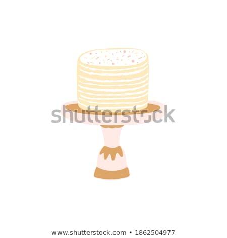 Kleur bakkerij romig cake zoete dessert Stockfoto © pikepicture