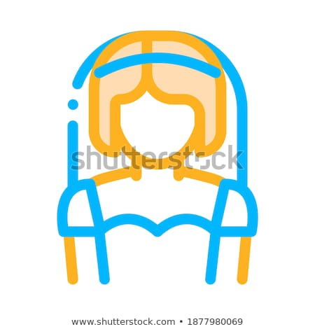 character bride woman silhouette sign vector icon stock photo © pikepicture