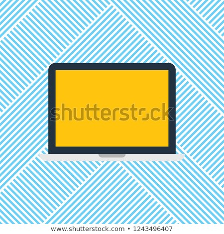 Laptop Electronic Gadget with Text Stripes Vector Stock photo © robuart