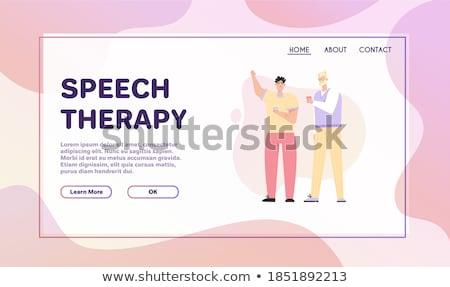 Stem toespraak opleiding landing pagina les Stockfoto © RAStudio