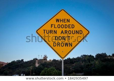Flood Sign Stock photo © gemphoto