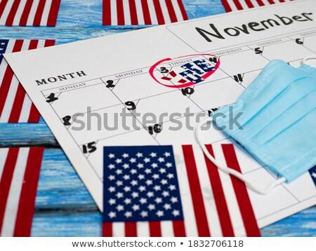 szavazó · regisztráció · piros · pecsét · fehér · szabadság - stock fotó © lightsource