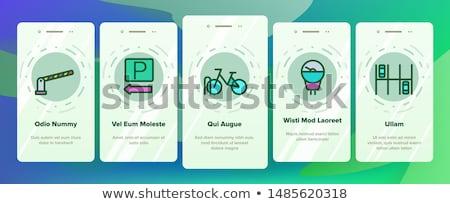 Parkeren auto communie vector mobiele Stockfoto © pikepicture
