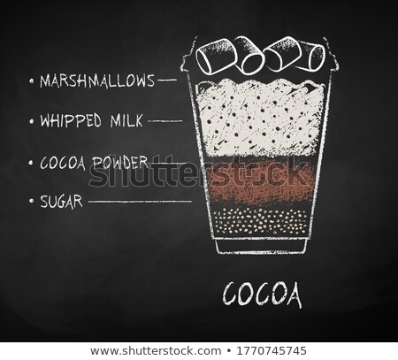Chalk drawn sketch of Cocoa recipe Stock photo © Sonya_illustrations