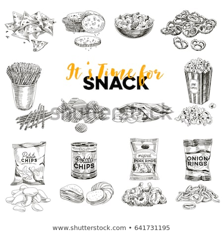 Vector illustration set of peanuts. Stock photo © Margolana