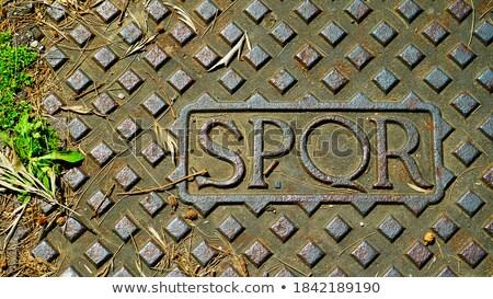 Texto cobrir Roma abreviatura senado Foto stock © nito