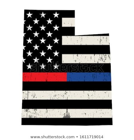 Utah policji strażak wsparcia banderą ilustracja Zdjęcia stock © enterlinedesign