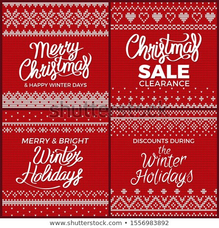 Christmas Embroidery and Clearance Sale Vector Stock photo © robuart
