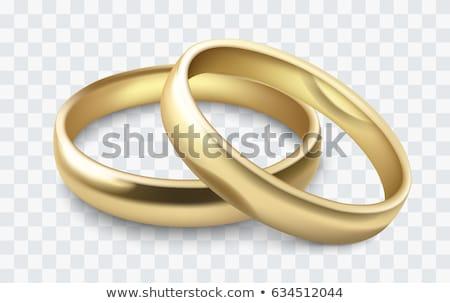 Kettő jegygyűrűk 3d illusztráció izolált fehér pár Stock fotó © montego