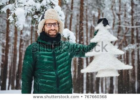 Agradável olhando barbudo masculino quente roupa Foto stock © vkstudio