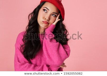 画像 退屈 美しい アジア 少女 着用 ストックフォト © deandrobot