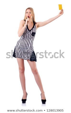 Stock photo: soccer referee girl