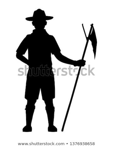 Bonitinho menino escoteiro natureza ilustração crianças Foto stock © bluering