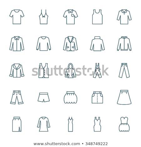 мини брюки икона вектора иллюстрация Сток-фото © pikepicture