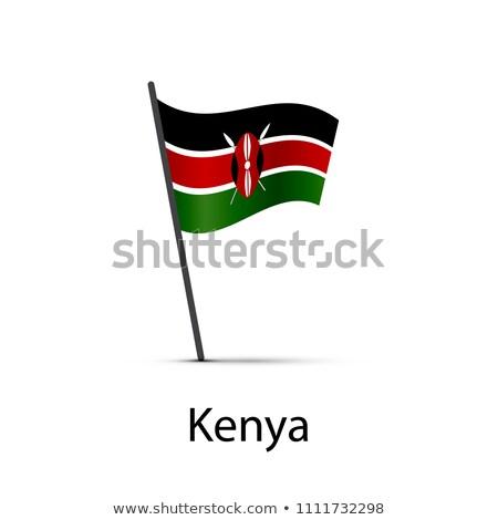 Kenia vlag paal element witte Stockfoto © evgeny89