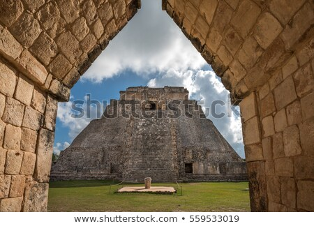 Mayan pyramid in Uxmal, Mexico Stock photo © dmitry_rukhlenko