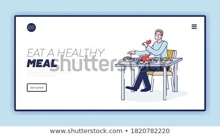 переедание зависимость посадка страница избыточный вес человека Сток-фото © RAStudio