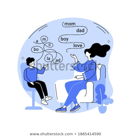 Speech therapy abstract concept vector illustration. Stock photo © RAStudio