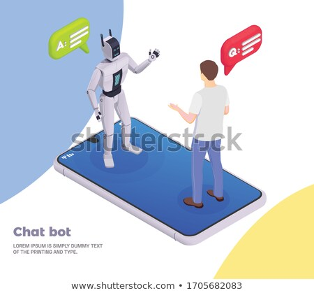 robot · bocadillo · metal · tubería · ordenador - foto stock © kariiika