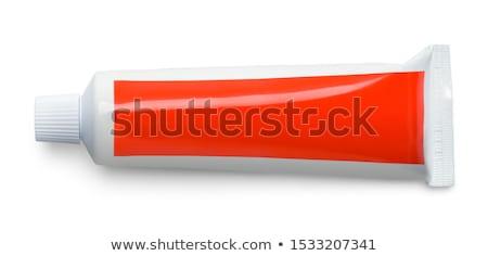 Diş macunu üç diş fırçası dişler beyaz Stok fotoğraf © pixelman