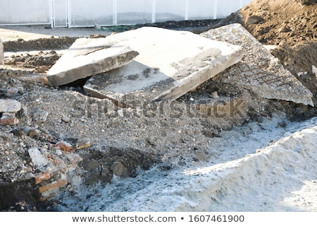 factory demolition stone stack of rubble on concrete floor Stock photo © Melvin07