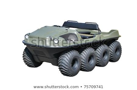 tracteur · huit · roues · blanche · industrielle · pouvoir - photo stock © njaj