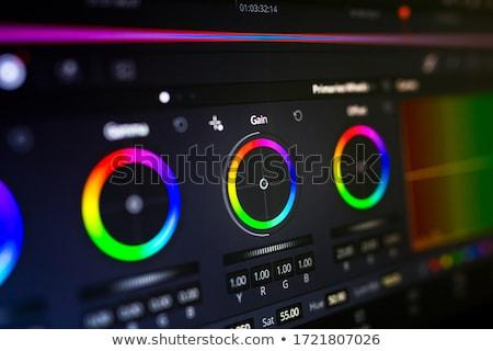 цвета коррекция пиктограммы цифровой бумаги работу Сток-фото © bmwa_xiller