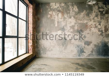 prisão · janela · ver · barras · arame · farpado · parede - foto stock © thp