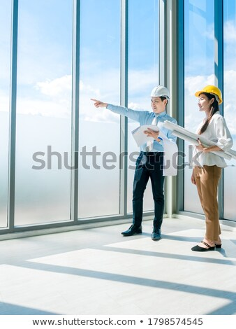businessman and female assistant on a construction site Stock photo © photography33