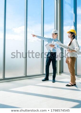 ビジネスマン · 女性 · アシスタント · 建設現場 · ビジネス · 女性 - ストックフォト © photography33