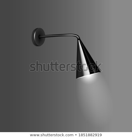 Conical shape lamp in lightly lighted room Stock photo © vetdoctor