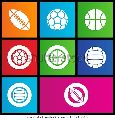 sportok · golyók · ikon · szett · egyszerűen · ikonok · háló - stock fotó © cidepix