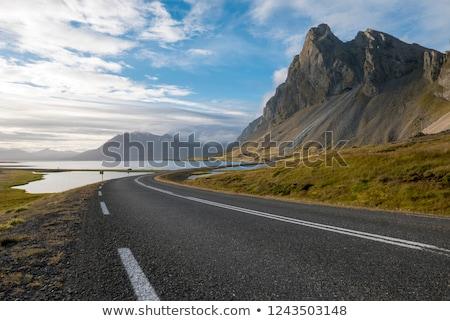 山 · 岩 · アイスランド · 氷河 - ストックフォト © broker