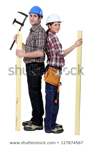 Tradespeople holding tools and materials Stock photo © photography33
