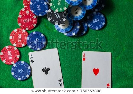 Deux puces vert table argent Photo stock © vankad