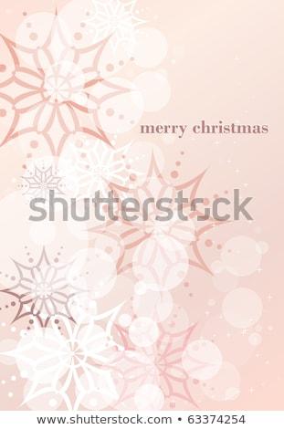 ajándék · címke · rózsaszín · szalag · izolált · fehér · papír - stock fotó © adamson