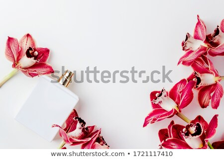 White Orchid and Perfume or Essence Stock photo © StephanieFrey