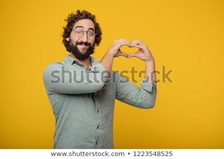 Hülye fickó fiatal lezser férfi egészalakos Stock fotó © zittto