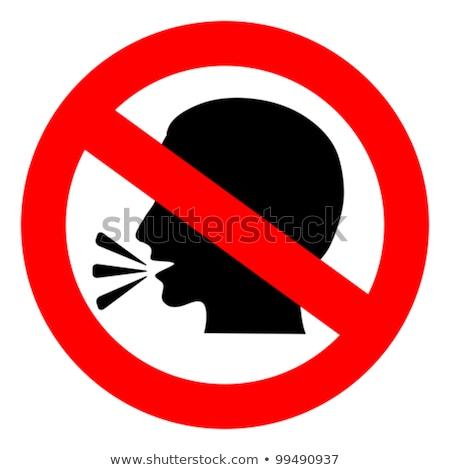 No speak sign Stock photo © Hermione