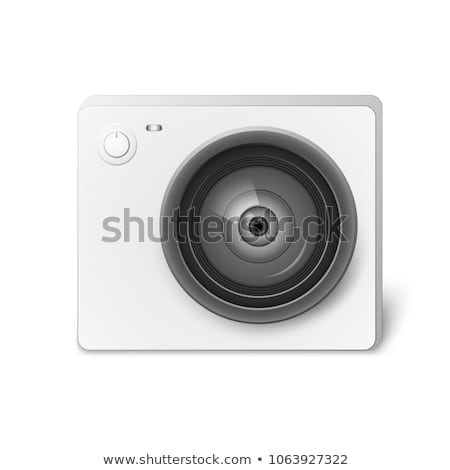 camers lens on black background stock photo © manaemedia