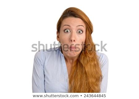 若い女性 · ボード · 不幸 · 肖像 · 紙 - ストックフォト © wavebreak_media