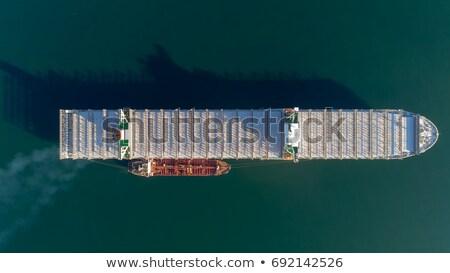 zwaar · schip · rivier · water · Blauw - stockfoto © tab62