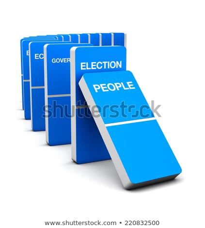 Election Colorful Domino Stock photo © cgsniper