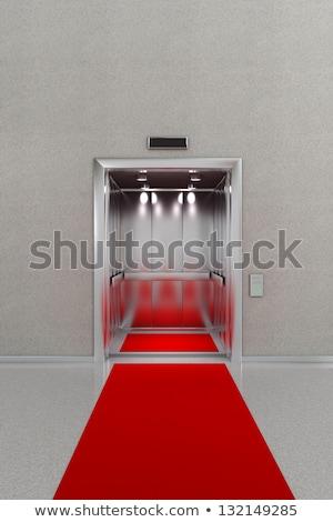 Otwarte windy czerwonym dywanie działalności lobby biuro Zdjęcia stock © creisinger