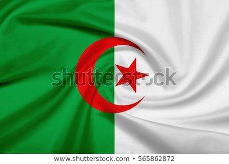 ткань текстуры флаг Алжир синий лук Сток-фото © maxmitzu