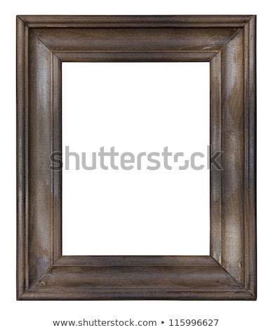 Foto stock: Escuro · quadro · de · imagem · isolado · branco