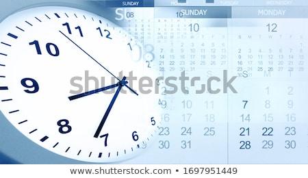 événements importante dates calendrier horloge Photo stock © Lightsource