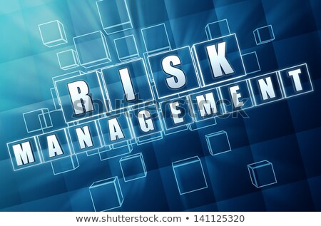risk management in blue glass cubes Stock photo © marinini